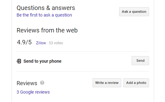 Write a Review Link - after Googling your business name